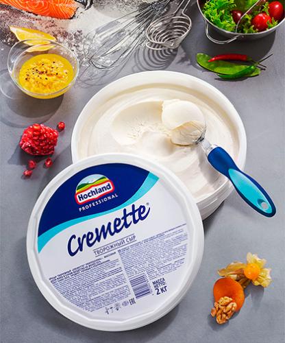 Творожный сыр Cremette банка 2 кг
