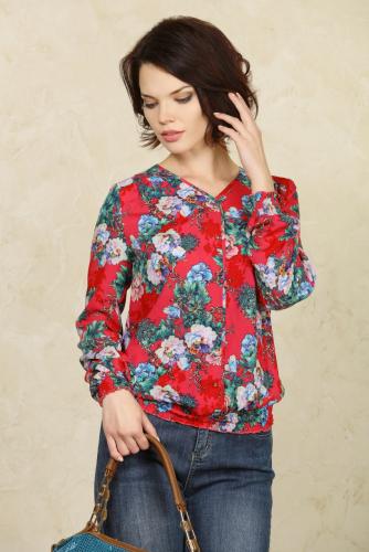 Блуза малиновый