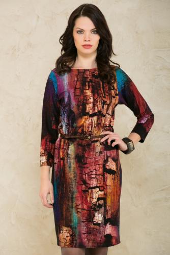 Платье коричнево-синий