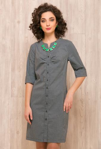Платье сине-зеленый