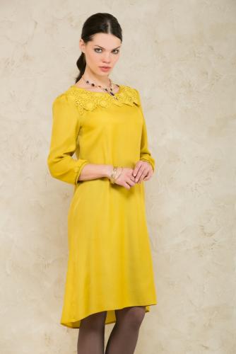 Платье горчичный