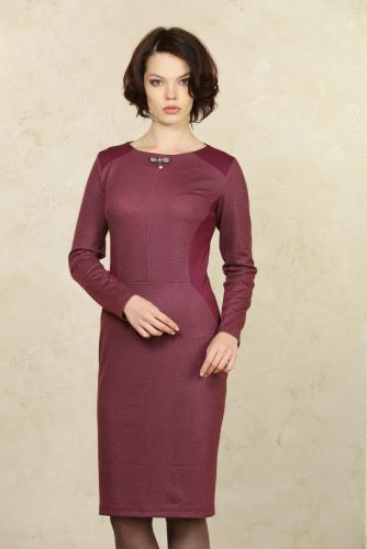 Платье бордовый