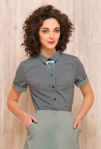 Блуза сине-зеленый