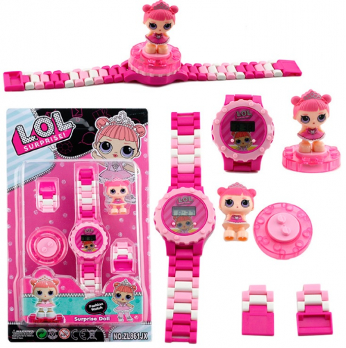 В наличии Лего-часы Кукла Lol