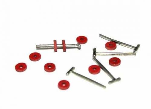 23530 Набор креплений фибра №6 для игрушек, 10 дисков (6 мм), 5 Т-образных шплинтов (1,6 см)