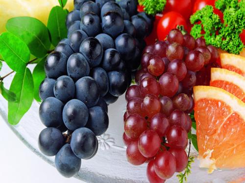 Виноград с апельсином