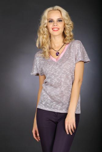 Блуза сиреневый меланж