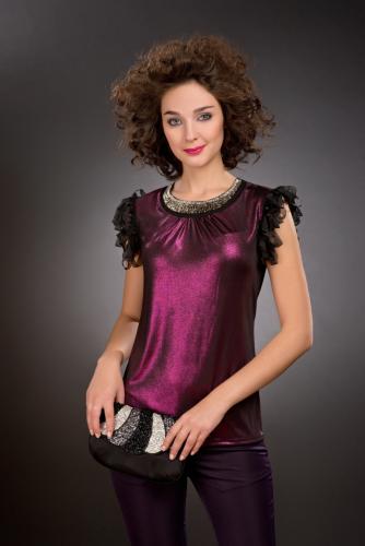 Блуза фиолетовый с напылением
