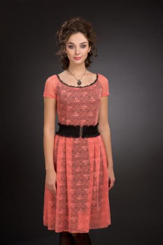 Платье коралл