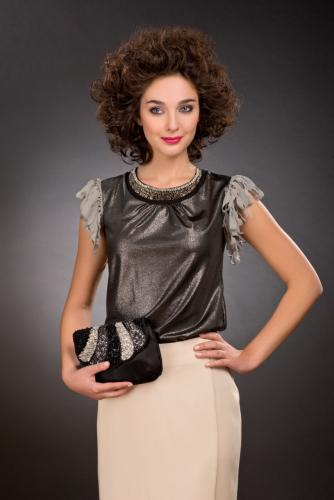 Блуза черный с напылением