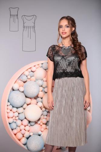 Платье серый