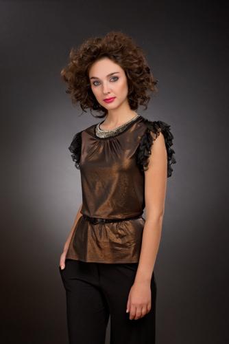 Блуза шоколадный с напылением