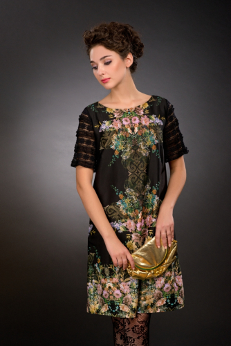 Платье цветной принт