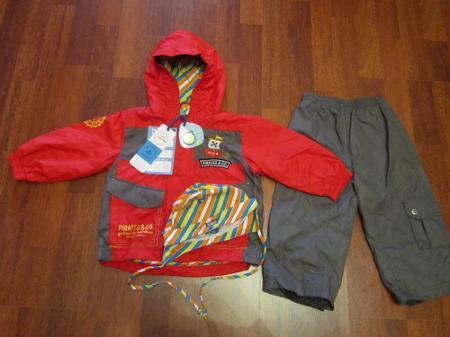 Демисезонный мембранный костюм Gagou Tagou цвет красный. Размер +