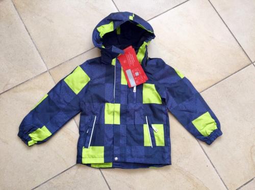 Демисезонная мембранная куртка цвет Light Green Cube р. 116+