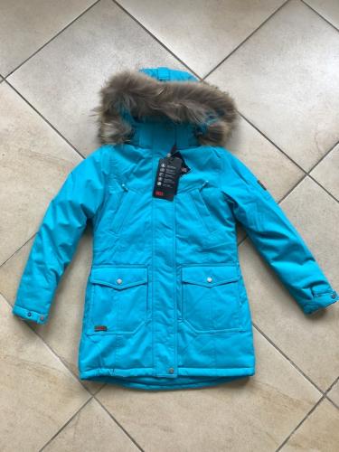Теплая зимняя мембранная парка High Experience цвет Turquoise Blue р. 158+