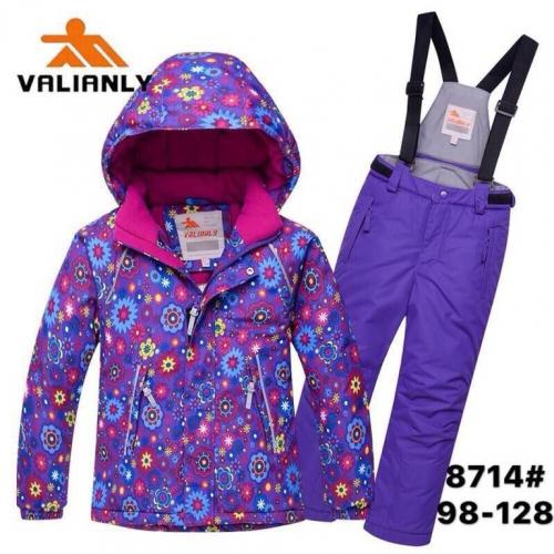 Теплый зимний мембранный комплект Valianly цвет Violet Flower Stars р. 98
