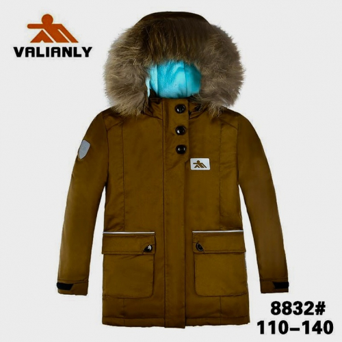 Теплая зимняя мембранная парка Valianly цвет Brown р. 122