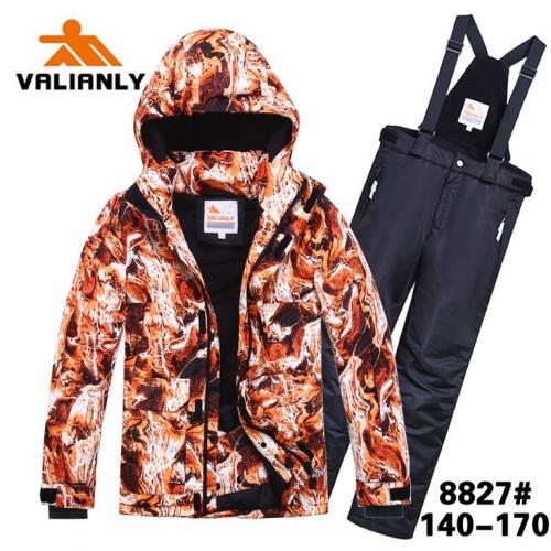 Теплый зимний мембранный комплект Valianly цвет Wild Flame р. 13 (158)