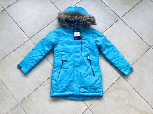 Теплая зимняя мембранная парка High Experience цвет Sky Blue р. 158+
