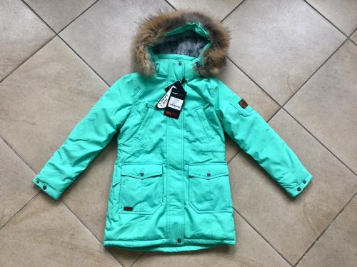 Теплая зимняя мембранная парка High Experience цвет Mint Green р. 146+
