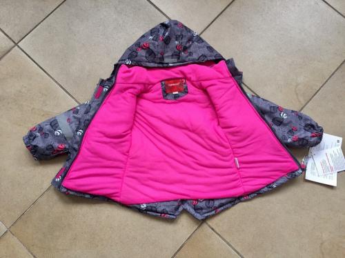 Демисезонная мембранная куртка Tornado цвет Cute Grey Birds р. 98/104