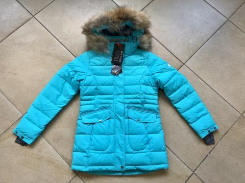 Теплая зимняя мембранная парка High Experience цвет Ice Blue р. 134+