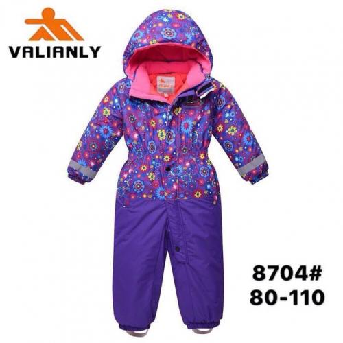 Теплый зимний мембранный комбинезон Valianly цвет Violet Fairy Tale