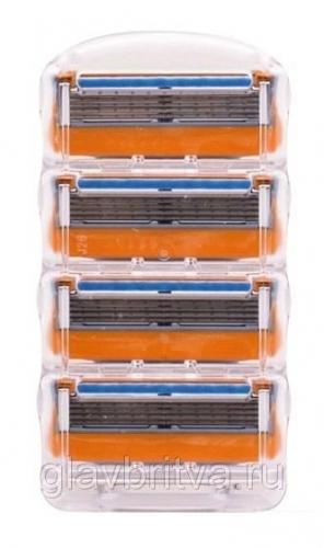 кассета для бритья gillette fusion power, 4 шт.(без упаковки)