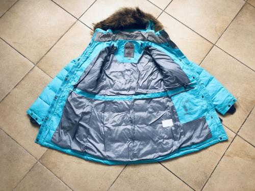 Теплая женская зимняя мембранная парка High Experience цвет Blueberry Ice р. L (46)