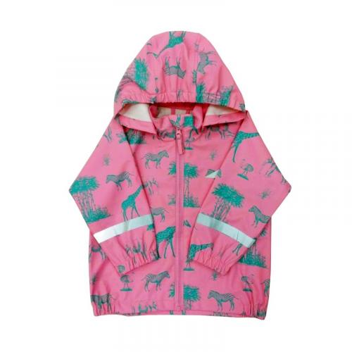 Непромокаемая куртка-дождевик для девочек Савана