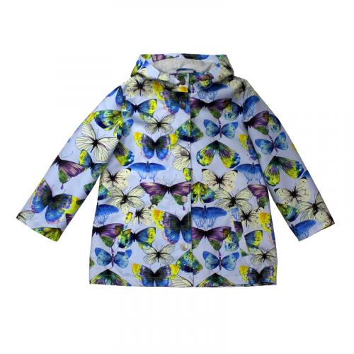 Ветровка-парка для девочки Бабочки