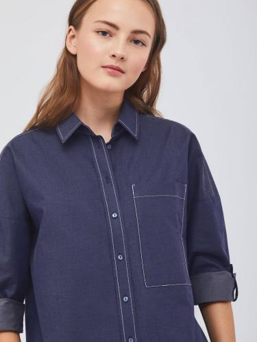 Рубашка с контрастной строчкой