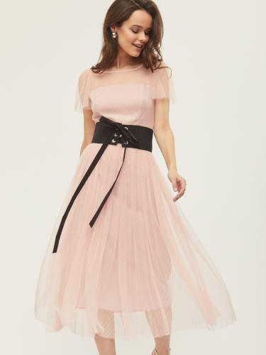 Платье в сетку