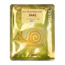 Восстанавливающая тканевая маска с муцином улитки THE SAEM Pure Natural Mask Sheet Snail (Not For Sale)