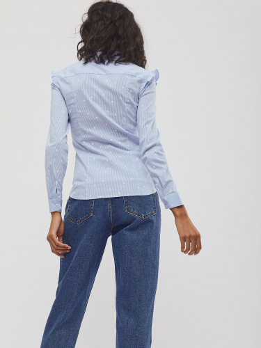 Блуза с деталями в складку