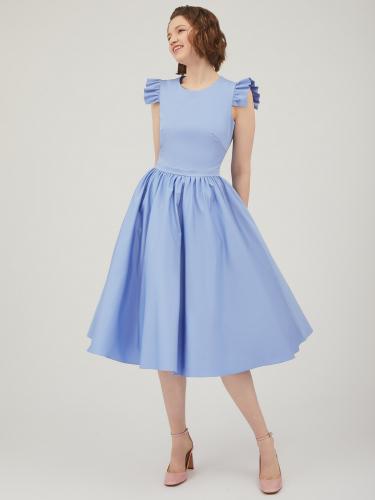 Платье с пышной юбкой длины миди