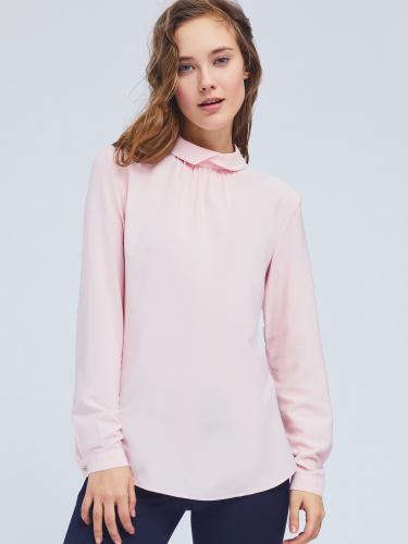 Блуза свободного кроя из вискозы