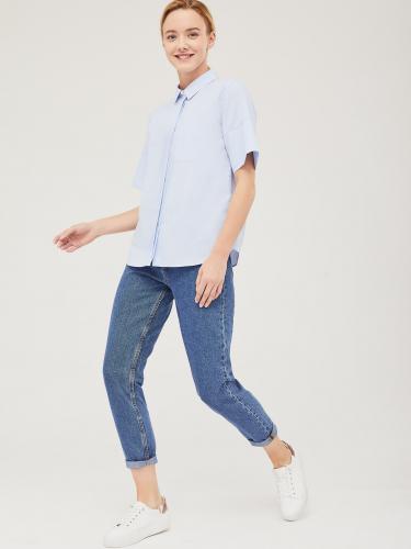 Хлопковая рубашка с короткими рукавами