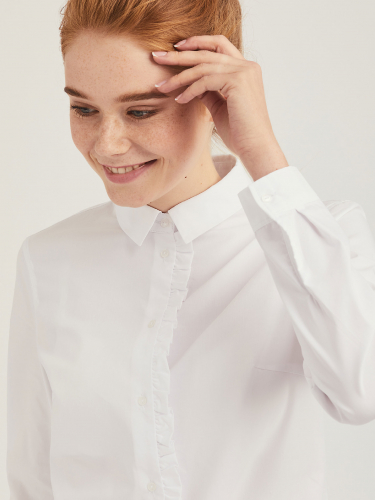 Хлопковая рубашка с длиными рукавами