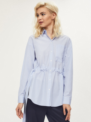 Удлиненная рубашка с завязками