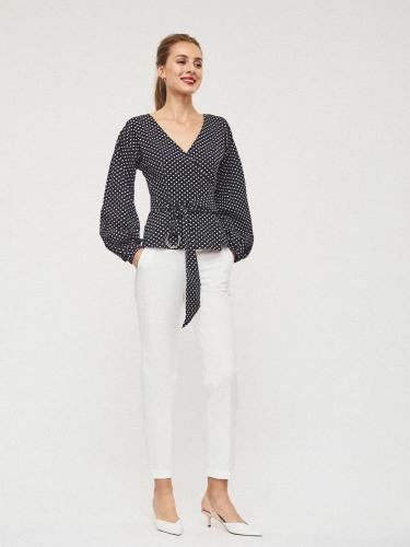 Блуза на запах с поясом