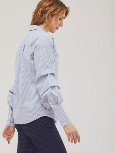 Блуза из хлопка в полоску