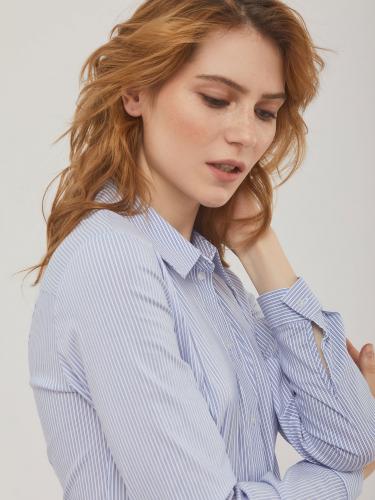 Хлопковая блуза в полоску
