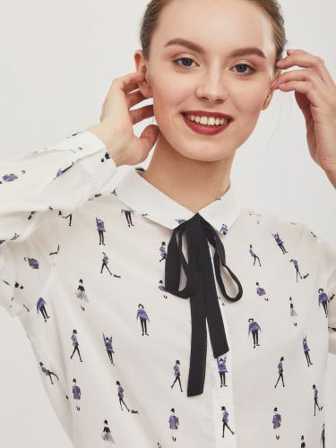Рубашка с авторским принтом
