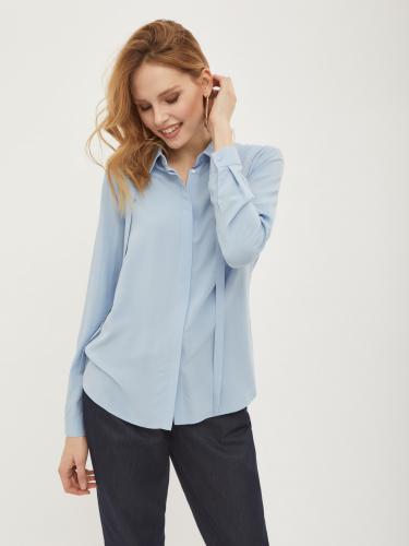 Блуза с принтом и бантом