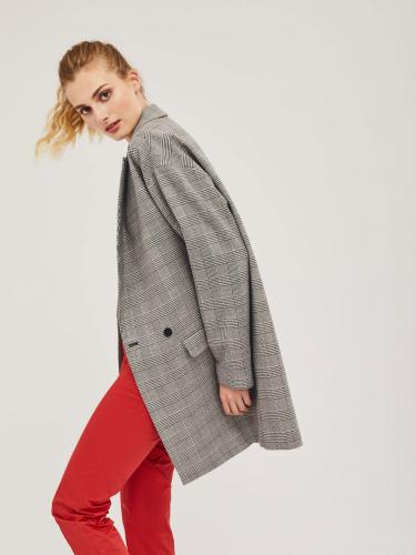 Пальто oversize в клетку