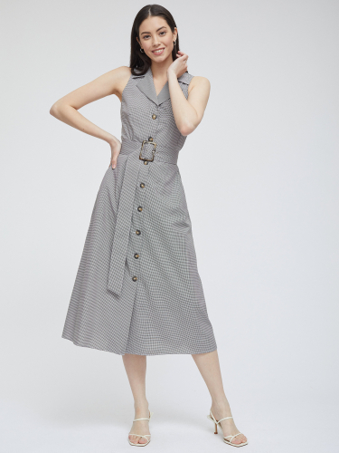 Платье в клетку виши