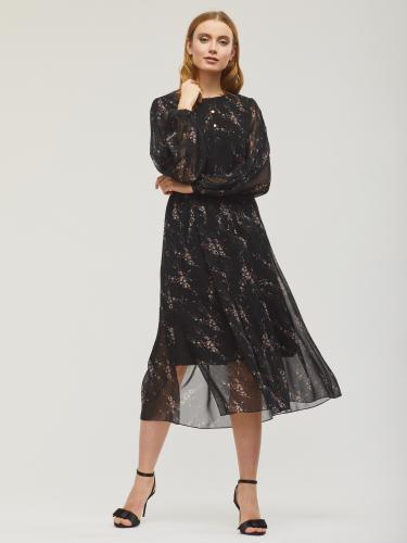 Платье с объемными рукавами