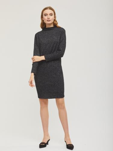 Трикотажное платье с меланжевым эффектом